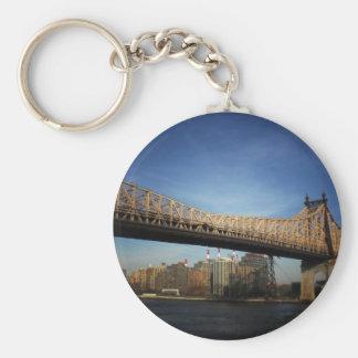 Puente de Queensboro, New York City Llavero Redondo Tipo Pin