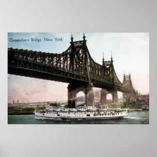 Puente de Queensboro, Nueva York Póster