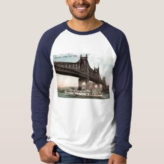 Puente de Queensboro, vintage 1915 de New York Poleras