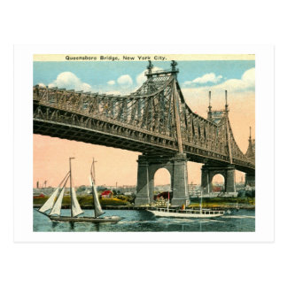 Puente de Queensboro, vintage de New York City Postal