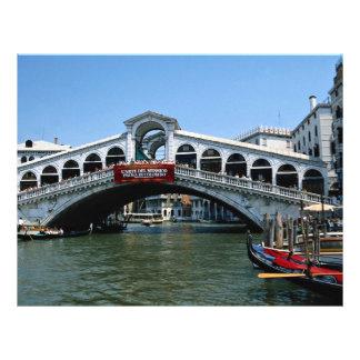 Puente de Rialto, Venecia, Italia Tarjetón
