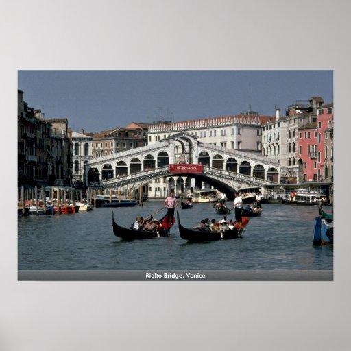 Puente de Rialto, Venecia Póster