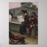 Puente de Richmond, c.1878 Póster