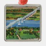 Puente de Rip van Winkle sobre el río Hudson Ornamento Para Arbol De Navidad