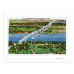 Puente de Rip van Winkle sobre el río Hudson Postal