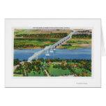 Puente de Rip van Winkle sobre el río Hudson Tarjetón