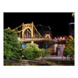Puente de Roberto Clemente - Pittsburgh, Pennsylva Poster