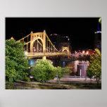 Puente de Roberto Clemente - Pittsburgh, Pennsylva Póster