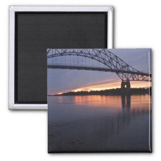 Puente de Sagamor sobre el canal de Cape Cod, 2 Imán Cuadrado