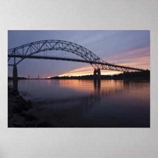 Puente de Sagamor sobre el canal de Cape Cod, Poster