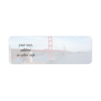 Puente de San Francisco Bay Etiqueta De Remite