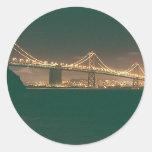Puente de San Francisco Bay Etiqueta Redonda