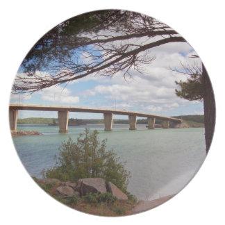 Puente de San José, placa de Canadá Plato Para Fiesta