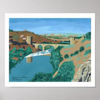 Puente de San Martin, Toledo Poster