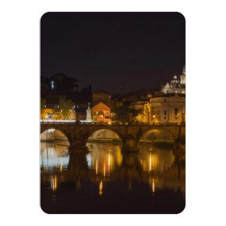 """Puente de Sant'Angelo sobre el río de Tíber Invitación 4.5"""" X 6.25"""""""