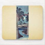 Puente de Saruhashi, por Ando, Hiroshige Alfombrillas De Raton