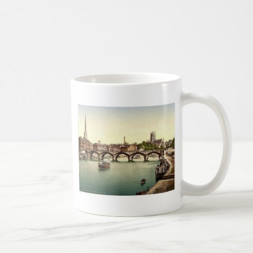 Puente de Severn, Worcester, Inglaterra Photochrom Tazas De Café