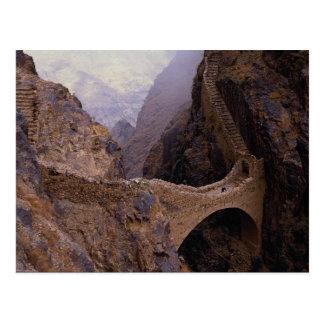 Puente de Shahara, abismo de 9000 pies, Yemen Tarjeta Postal