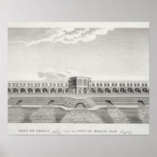Puente de Shiraz, Isfahán, de 'Voyages du Chevel Póster