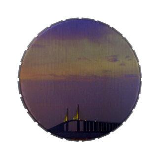 Puente de Skyway de la sol Frascos De Dulces