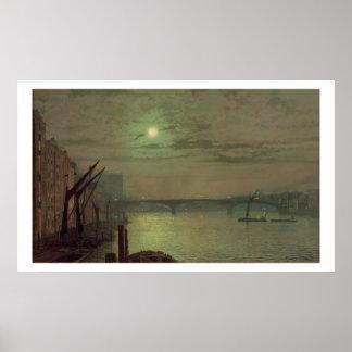 Puente de Southwark, 1882 (aceite en lona) Poster