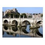 Puente de st Ángel, Roma, Italia de Castel Postal