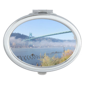 Puente de St Johns, Portland Oregon Espejos Maquillaje