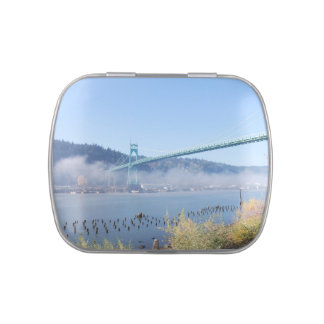 Puente de St Johns, Portland Oregon Frascos De Caramelos