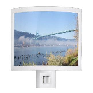 Puente de St Johns, Portland Oregon Luces De Noche
