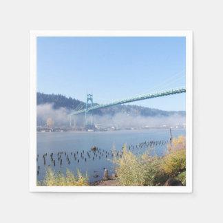 Puente de St Johns, Portland Oregon Servilleta De Papel