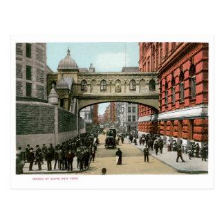 Puente de suspiros, Nueva York Postales