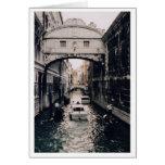 Puente de suspiros, Venecia, Italia Tarjeta