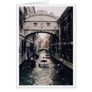 Puente de suspiros, Venecia, Italia Tarjeta De Felicitación