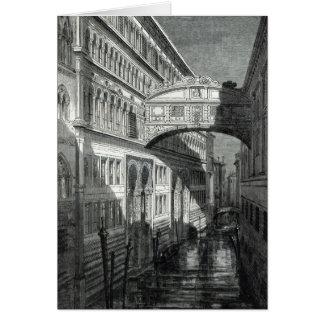 Puente de suspiros, Venecia Tarjeta De Felicitación