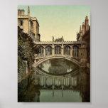 Puente de suspiros, vintage Photoc de Cambridge, I Posters