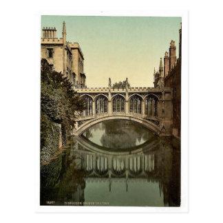 Puente de suspiros, vintage Photoc de Cambridge, I Tarjetas Postales