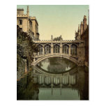 Puente de suspiros, vintage Photoc de Cambridge, I Postales