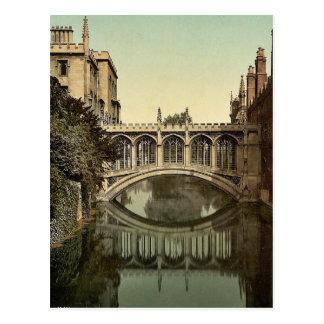 Puente de suspiros, vintage Photoc de Cambridge, I Tarjeta Postal