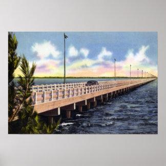Puente de Tampa la Florida Gandy Posters