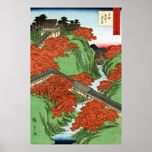 Puente de Tsuten, templo de Tofukuji en Kyoto Póster