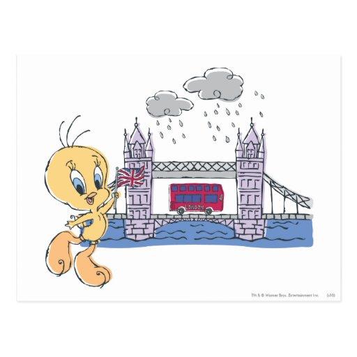 Puente de Tweety Londres Tarjeta Postal