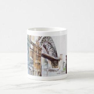 Puente de Tyne de decano Street Mug Taza Básica Blanca
