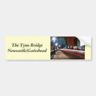 Puente de Tyne Pegatina De Parachoque