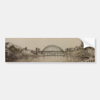 Puente de Tyne y las pegatinas para el parachoques Pegatina De Parachoque