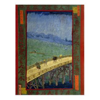 Puente de Van Gogh en lluvia (después de Postales