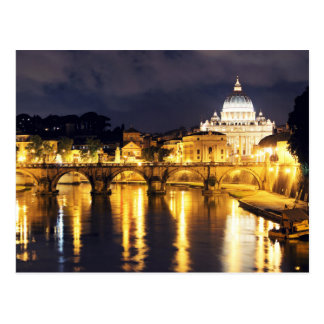 Puente de Vatican de ángeles Tarjeta Postal