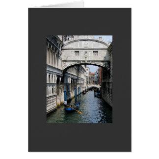 Puente de Venecia de suspiros Tarjeta De Felicitación