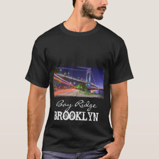 Puente de Verrazano en la bahía Ridge Brooklyn NYC Playera