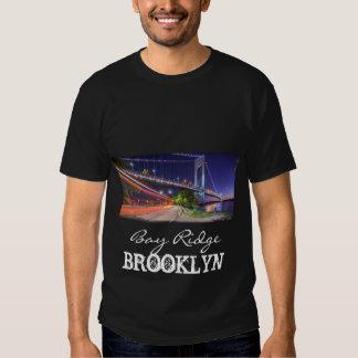 Puente de Verrazano en la bahía Ridge Brooklyn NYC Remera
