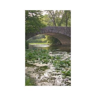 Puente de Vilas en los WI de Madison Lienzo Envuelto Para Galerías